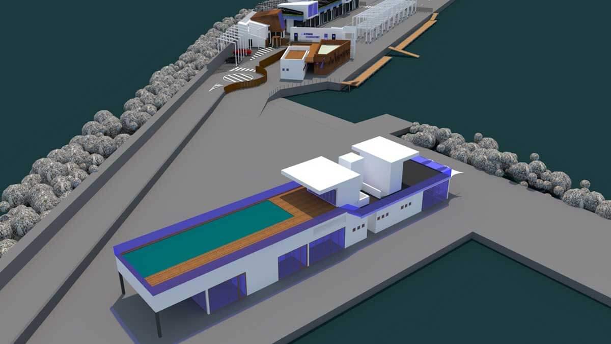 Edificio de Capitanía y Escuela de Vela del Puerto Náutico de Cambrils